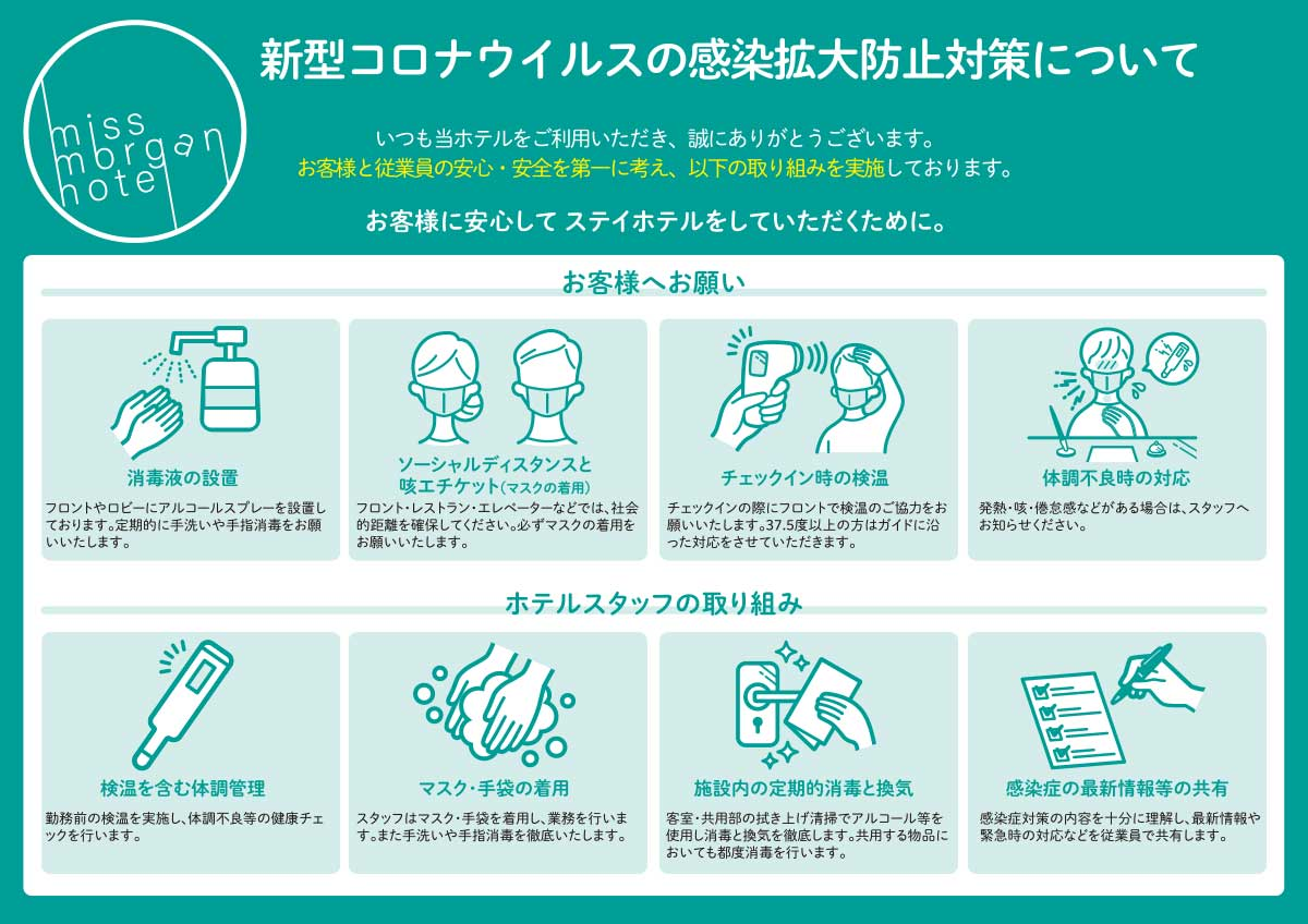 新型コロナウィルスの感染拡大防止対策